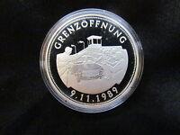 Deutsche Einheit Grenzöffnung Silber 999 PP Medaille Gedenkprägung