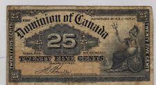 1900 Dominion of Canada Twenty-Five Cents Bill (SHINPLASTER). (RP10)