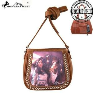 New Handbag Purse Crossbody Montana West Horse Art Concealed Handgun Messenger