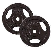 20 kg Guss Hantelscheiben 2x10 kg 30/31mm  Eisen Gewichte Hanteln Set Grau
