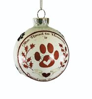 "Kurt Adler 3"" Glass Pet Sayings Dog Ornament ""The Road Heaven Paved Pawprints"""