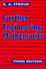 Further Engineering Mathematics 3rd ed, Good Condition Book, K.A. Stroud, ISBN 9