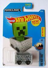 Hot Wheels 2015 Minecraft Minecart Diecast Car, 2016 First Edition New on Card