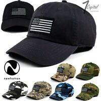 USA American Flag Military Tactical Army Camo Cotton Baseball Polo Hat Fit Cap