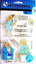 Get Well Clear Acrylic Stamp Set by Art Impressions SC0681 NEW!