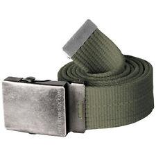 Cinture da uomo verde in tela