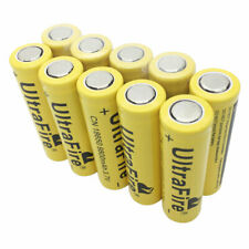 10X Battery 18650 9800mAh Li-ion 3.7V Rechargeable Flat Top for Flashlight Torch