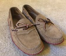 Quoddy Grizzly Moc Loafer Peanut Suede 11.5 Made in Maine
