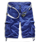 Men Military Army Combat Trousers Tactical Work Pocket Camo Pants Cargo Shorts