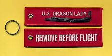 U-2 Dragon Lady Remove Before Flight embroidered Key Ring/Tag - New