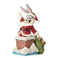 Jim Shore Looney Tunes Up On The Roof Top Bugs Bunny Christmas Figurine 4052808