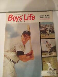 MICKEY MANTLE BOYS LIFE MAGAZINE AUGUST 1959 COMPLETE MAGAZINE, RARE!
