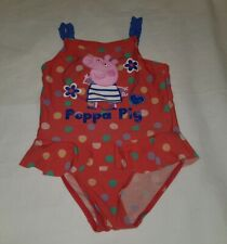 Gorgous red spotted PEPPA PIG swimming bathing suit costume age 3 4 Years