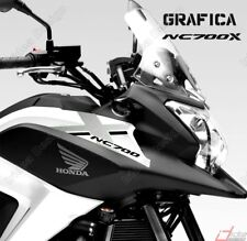 ADESIVI DECAL STICKERS HONDA NC700X NC 700 X RACING CARENA GRAFICA NERO ARGENTO