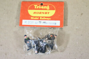 TRIANG HORNBY R281 SET of TRAIN FIGURES DRIVER FIREMAN GUARD SEALED ny