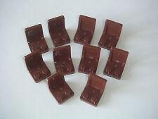 Lego 10 sièges marrons Neufs / New Reddish Brown Seats 2x2 sets REF 4079b