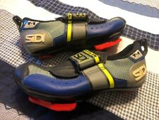 Sidi T1 Triathlon Cycling Shoes Women's Blue Black Silver 37 Pedal Cleats Italy