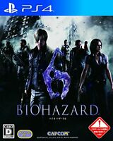 USED PS4 PlayStation 4 Biohazard Resident Evil 6 80088 JAPAN IMPORT