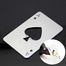Playing Card Ace of Spades Poker Bar Tool Bottle Soda Beer Cap Opener Men's Gift