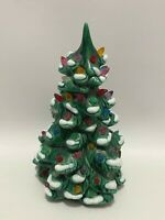 """Vintage Ceramic Light Up Frosted Snow Christmas Tree 6"""" Small Size Mold Lights"""