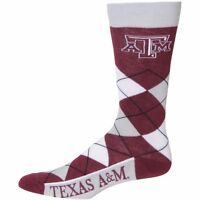Texas A&M NCAA Argyle Crew Socks By For Bare Feet
