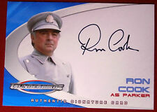 Thunderbirds - RON COOK (Parker) - Autograph Card AC4 - Cards Inc 2004