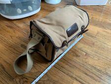 Vintage Nikon film camera lens messenger bag satchel brown