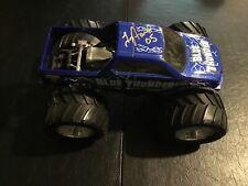 Hot Wheels Monster Jam Large Blue Thunder Signed By Driver