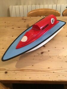rc model boat MFA Piranha with plan and instructions. Built late 80s