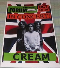 Creem/Eric Clapton 1968 Forum Replica Concert Poster W/Protective Sleeve