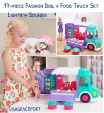 "17pc Cupcake FOOD TRUCK Kitchen RV +11.5"" Fashion DOLL SET for Barbie Jojo Siwa"