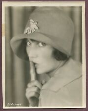 Fay Wray Adorable Flapper Girl 1920's Photo LINEN MOUNTED Sush Shhhh J581