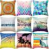 PW_ Boho Geometric Beach Living Room Sofa Linen Cushion Cover Pillow Case Nove