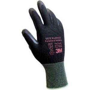 3M Safe Handers 523 Black Nitrile Foam Coated Work Gloves (10 Pairs) Large i
