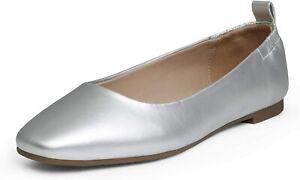 Women's Ballet Flat Shoes Square Toe Slip On Comfort Dress Flat Shoes