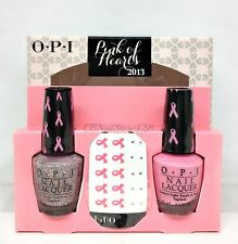 OPI Nail Polish - PINK OF HEARTS 2013 Duo Pack S95 + E96 + Crystal Decals