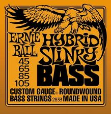 2 SETS BASS GUITAR STRINGS 2833 ERNIE BALL HYBRID SLINKY ROUNDWOUND 45-105