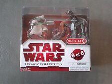 Star Wars Legacy Collection Geonosis Arena Showdown Yoda vs Droideka NEW