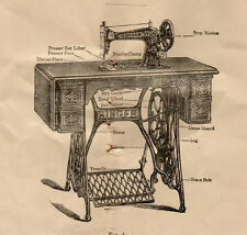 1903 Instruction 4 Style No. 11, No. 27 Singer Sewing Machine Form 7468 Manual
