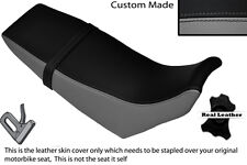 BLACK & GREY CUSTOM FITS YAMAHA DT 125 RE 04-07 DUAL LEATHER SEAT COVER