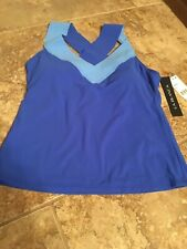 NWT $89 La Blanca Cross Strap tankini top swimsuit Bathing Suit separate 8 (110)