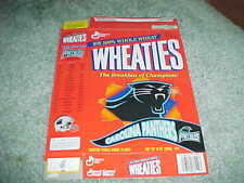 1995 Carolina Panthers Inaugural Season Wheaties Football Schedule Logo Box