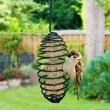 Hanging Wild Squirrel Bird Feeder Suet Ball Peanuts Garden Outdoor Metal Spring