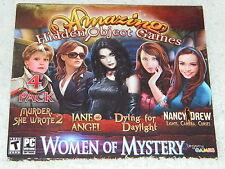 Women of Mystery Amazing Hidden Object Games 4 Pack (PC 2013) LN OPEN BOX UNUSED