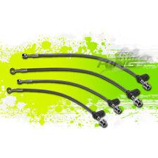 HIGH PERFORMANCE STAINLESS PVC BRAIDED BRAKE LINE 86-89 INTEGRA DA1/DA3 BLACK