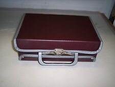 BROWN WITH SILVER STORAGE CASE FOR CASSETTE TAPES  *HOLDS 12 TAPES**  #13