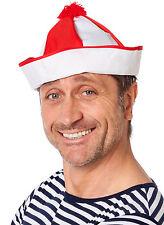 pompon schiffskappe pour MARINS rouge blanc neuf - Carnaval Chapeau HEAD
