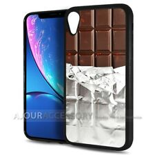 ( For iPhone XR ) Back Case Cover AJ10359 Chocolate