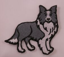 Embroidered Border Collie Puppy Dog Breed Patch Applique Iron On Sew On USA