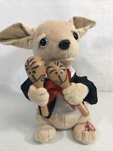 "Chuey Bamba 12"" Singing Chihuahua Animated Plush, Shakes Maracas to ""La Bamba"""